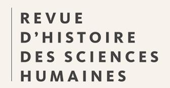 Revue d'histoire des sciences humaines, n° 34 :