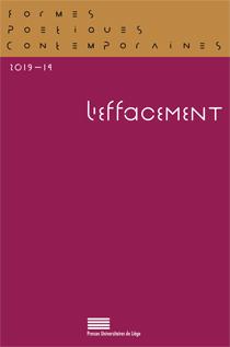 M. Delville, G. Purnelle (dir.),FPC. Formes Poétiques Contemporaines, n° 14 :