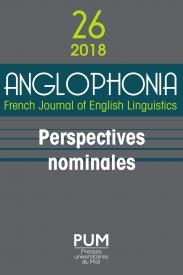 Anglophonia, n° 26, 2019 :