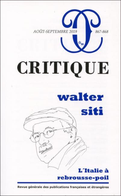 Critique n° 867-868 :
