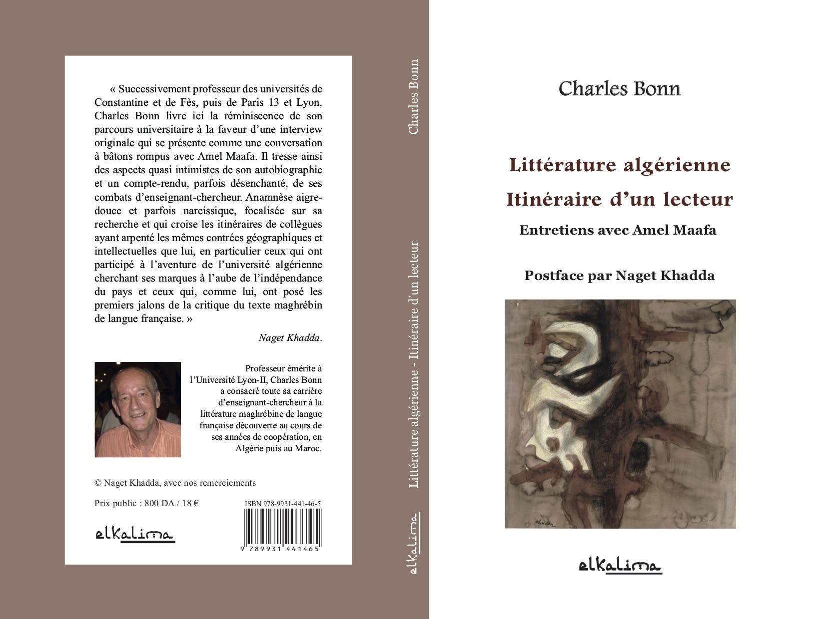 Ch. Bonn, La Littérature algérienne. Itinéraire d'un lecteur