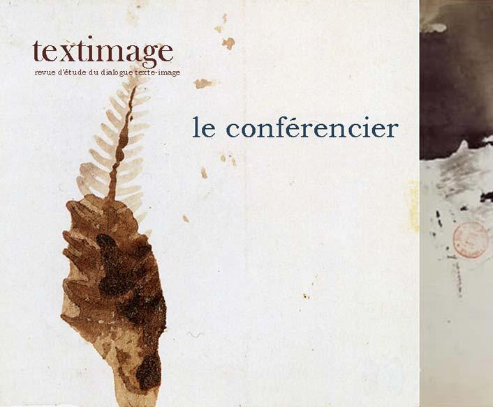 Textimage-Le Conférencier, été 2019 :