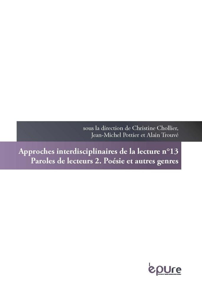 Paroles de lecteurs 2. Poésie et autres genres (J.-M. Pottier, dir.)