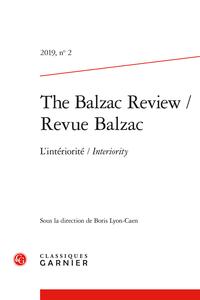The Balzac Review / Revue Balzac, 2019, n° 2 :