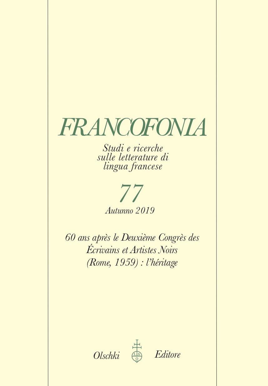 Francofonia, n° 77 :