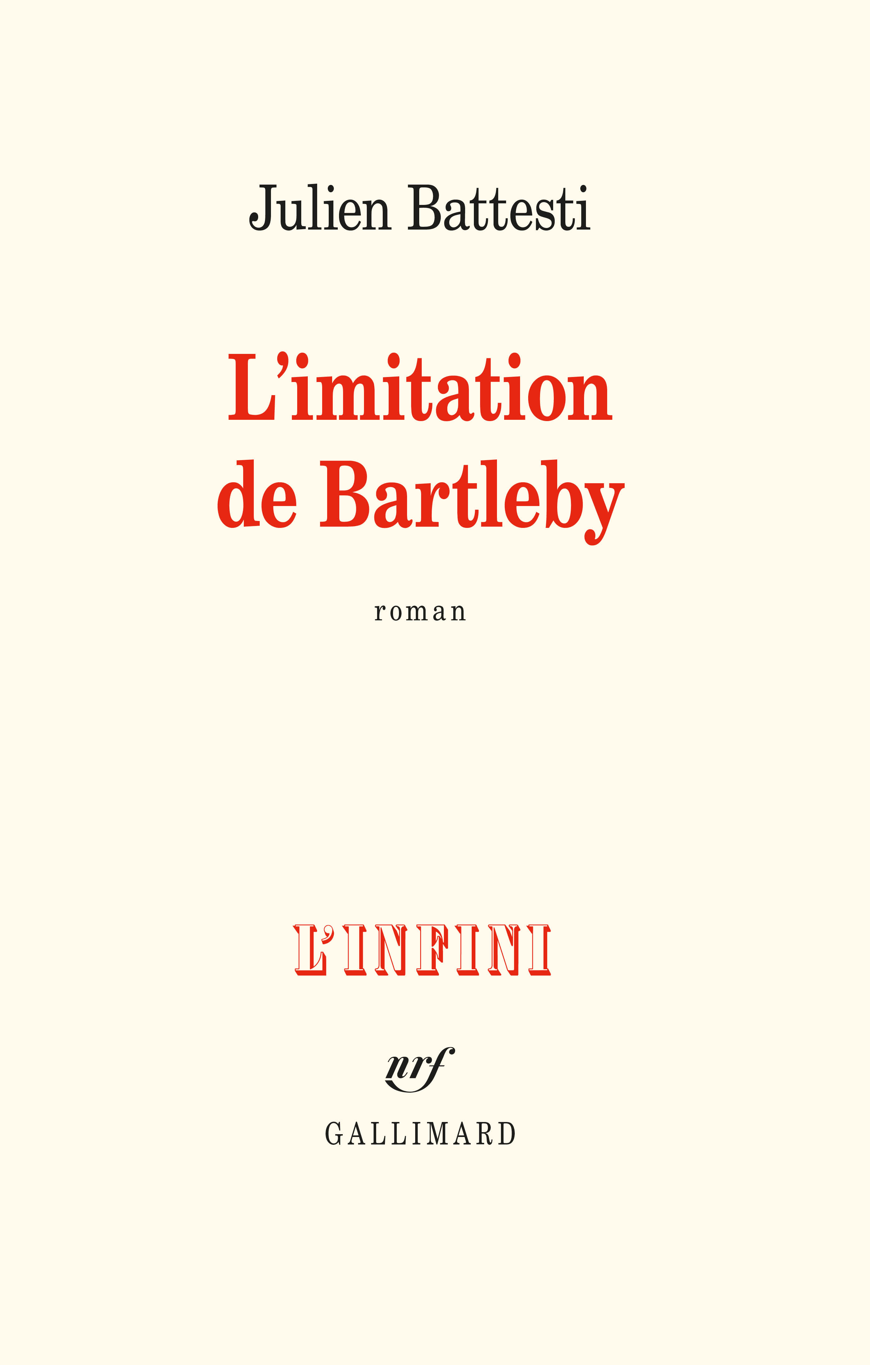J. Battesti, L'imitation de Bartleby