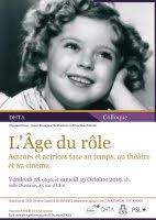L'Age du rôle, acteurs et actrices face au temps, au théâtre et au cinéma (ENS Paris)