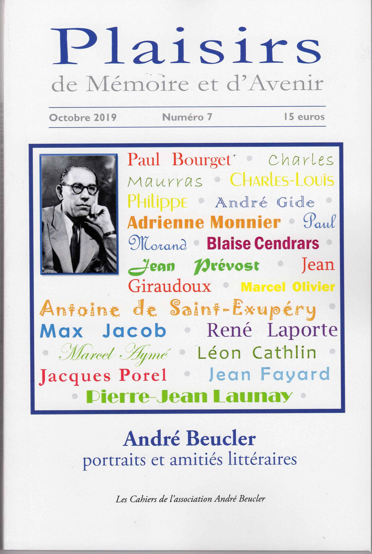 Cahier André Beucler n° 7, « Portraits et amitiés littéraires » (É. Sermier, éd.)