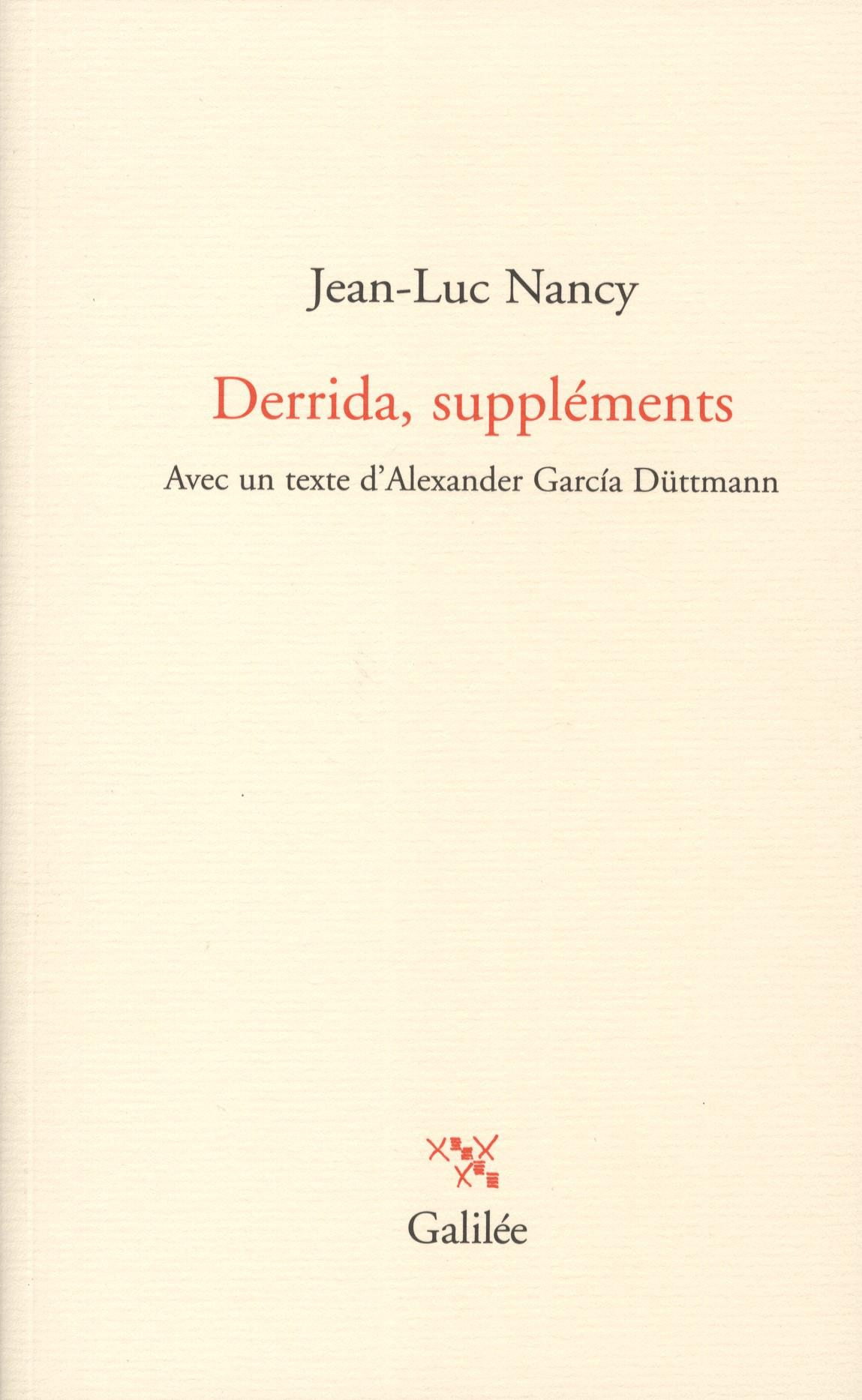 J.-L. Nancy, Derrida, suppléments