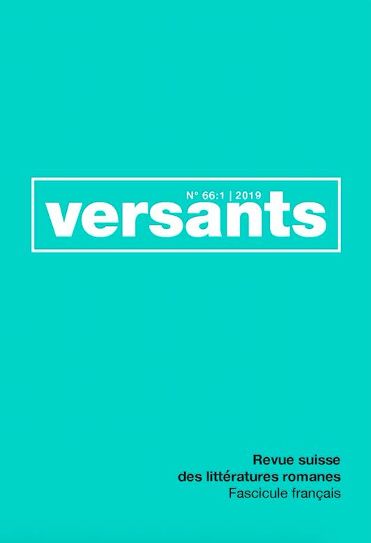 Versants, n° 66/1 :