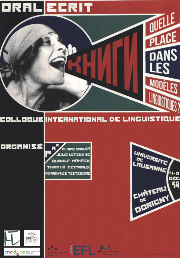 Oral / écrit : Quelle place dans les modèles linguistiques ? (Université de Lausanne)