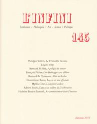 Revue L'Infini, n° 145
