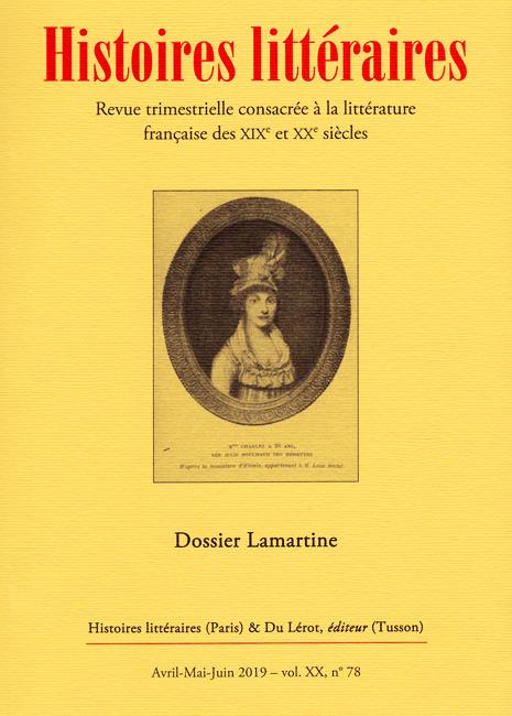 Histoires Littéraires n° 78: