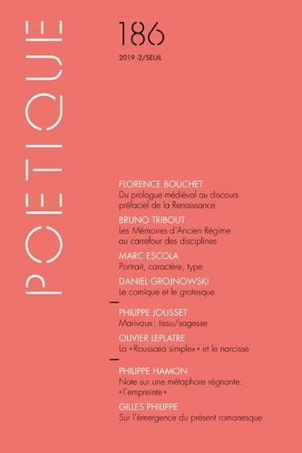 Poétique, n° 186, 2019-2