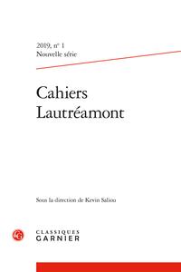 Cahiers Lautréamont. Nouvelle série, n° 1
