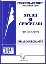 Studii si cercetari filologice. Seria Limbi Romanice / Etudes et recherches en littérature. Série langues romanes, n°26,