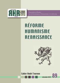 Réforme, Humanisme, Renaissancei, n° 89: