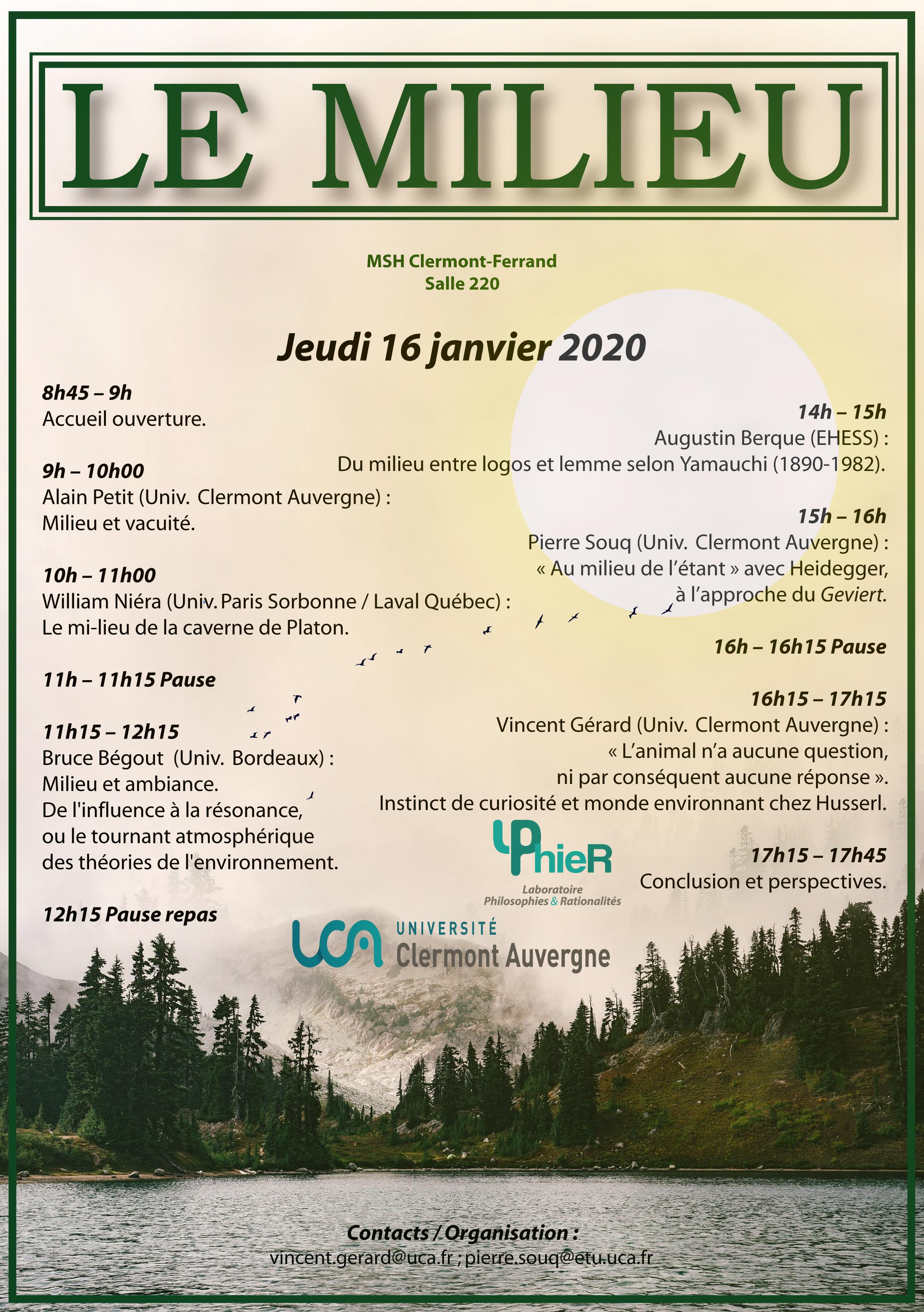 Le milieu (MSH Clermont-Ferrand)