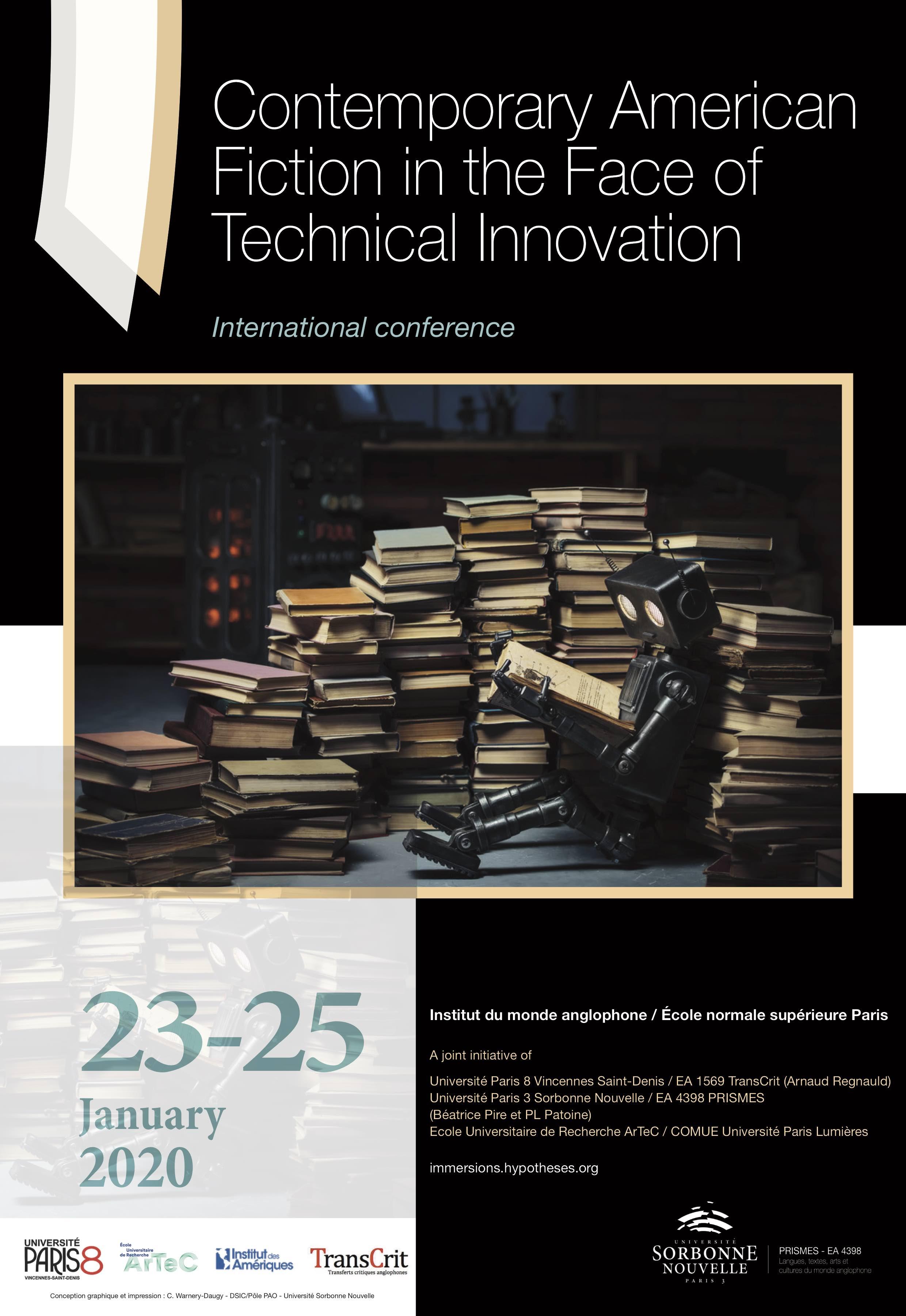 Contemporary American Fiction in the Face of Technical Innovation (Paris)