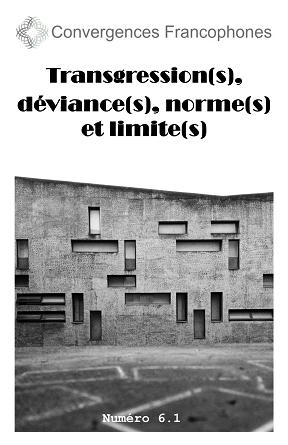 Convergences francophones, n° 6-1, 2019 :