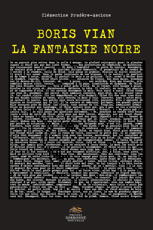 C. Pradère-Ascione, Boris Vian, la fantaisie noire