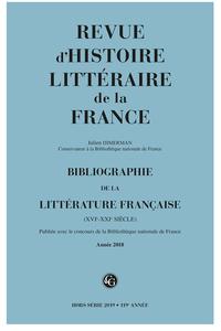 Bibliographie de la littérature française, Année 2018