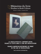 Mémoires du livre/Studies in Book Culture, vol. 11 n° 1 (2019):