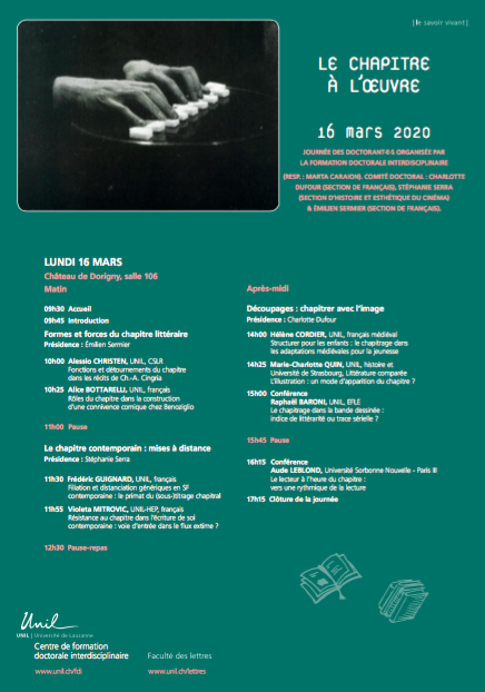 Le chapitre à l'œuvre (Lausanne)