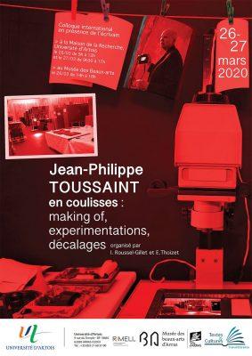 Jean-Philippe Toussaint en coulisses (Arras)