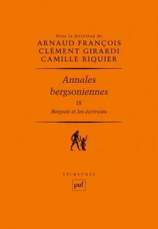 Annales bergsoniennes, t. IX, 2020 :