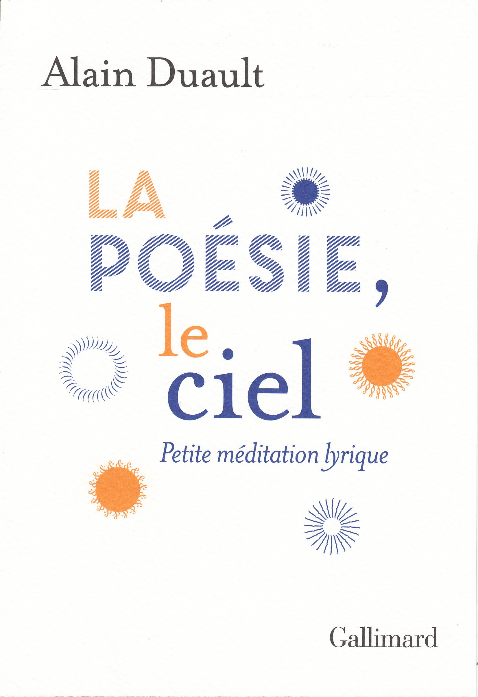 A. Duault, La poésie, le ciel. Petite méditation lyrique