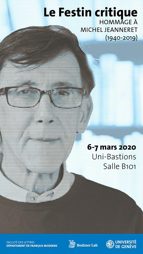 Hommage à Michel Jeanneret. Le festin critique (Genève)