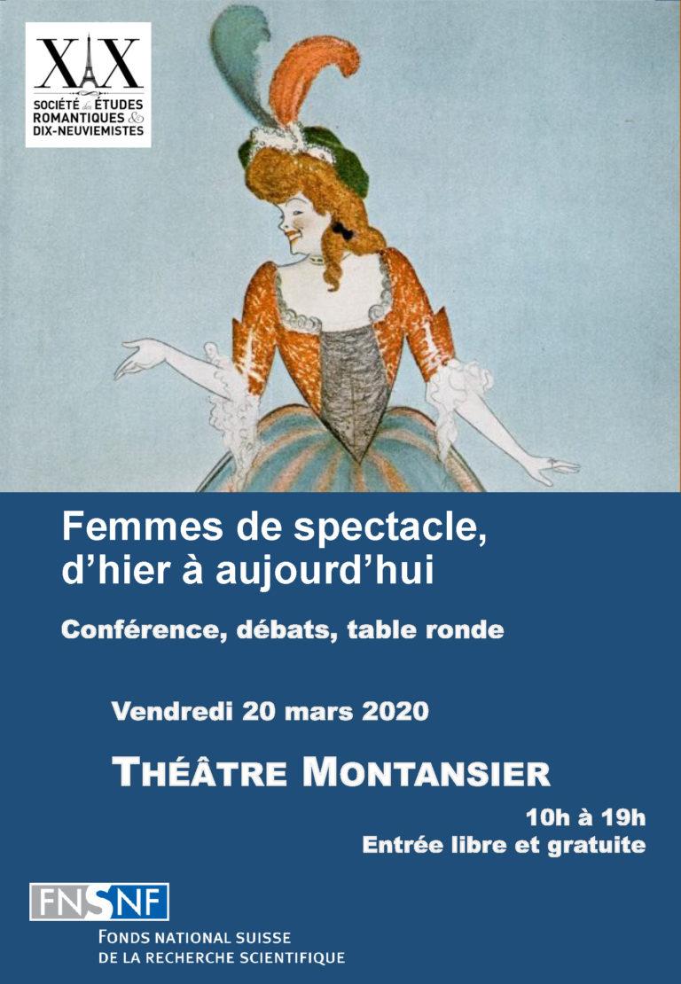 Femmes de spectacle, d'hier à aujourd'hui. Toutes sauf les actrices ! (Théâtre Montansier, Versailles)