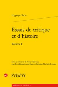 H. Taine, Essais de critique et d'histoire