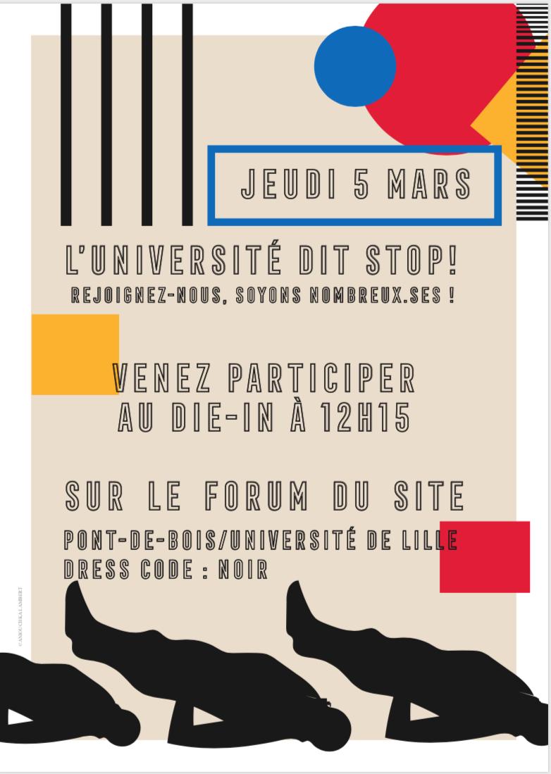 5 mars : l'Université dit stop ! (Lille)