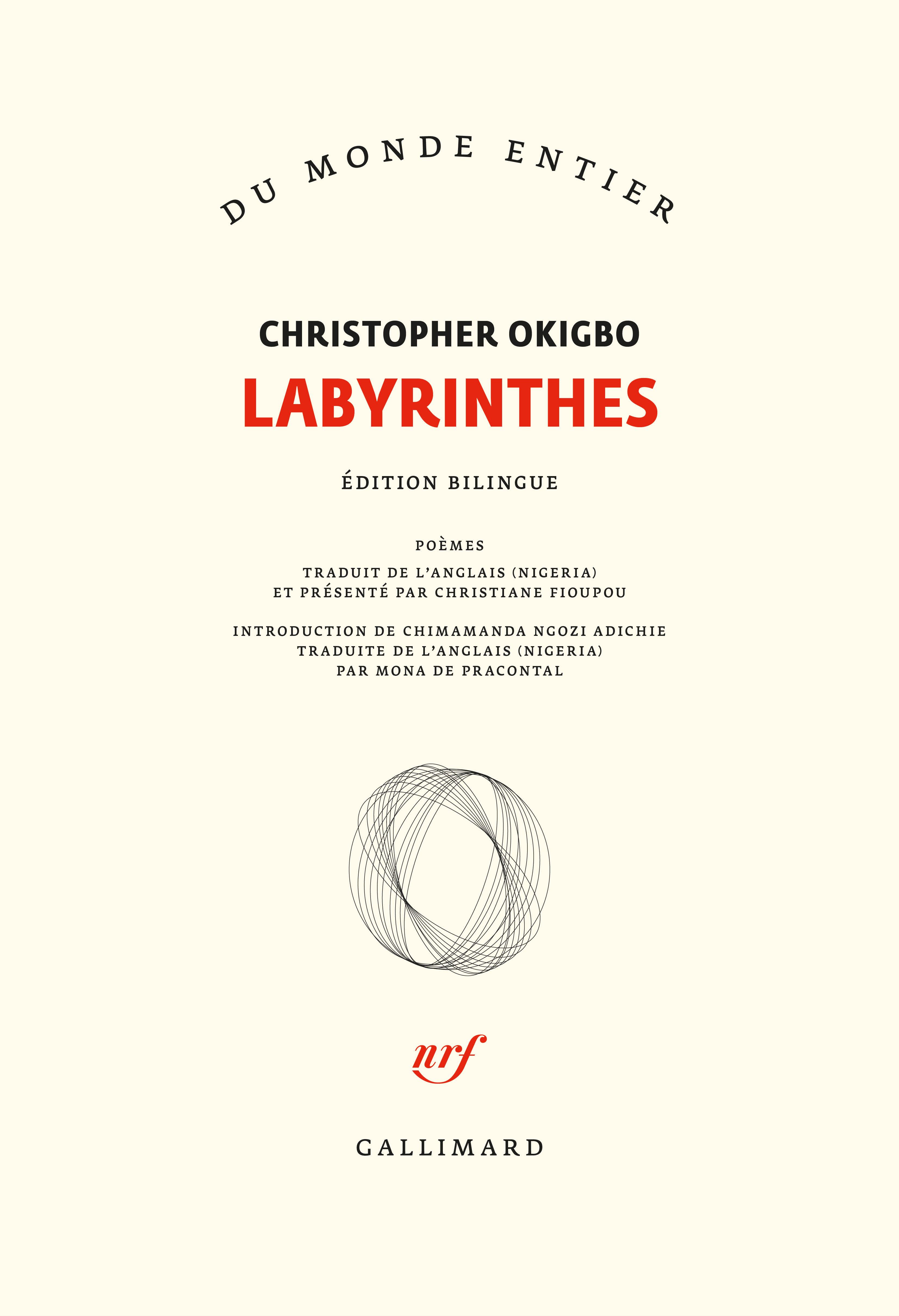 C. Okigbo, Labyrinthes [Labyrinths]