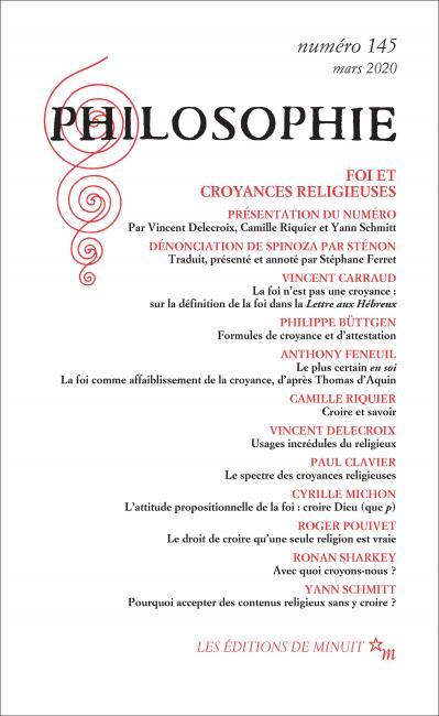 Philosophie, n° 145 :
