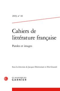 Cahiers de littérature française, n° 18 :
