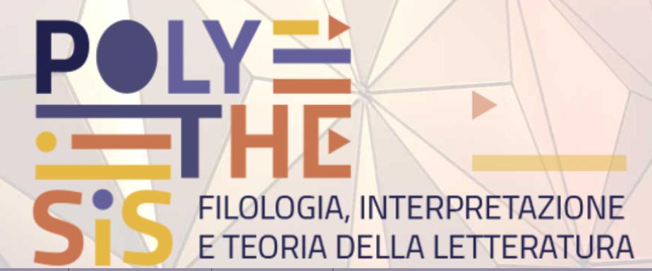 <em>Polythesis. Filologia, Interpretazione e Teoria della Letteratura</em>, n° 1