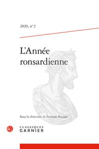 L'Année ronsardienne, 2020, n° 2, varia