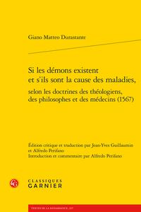 G. M. Durastante, Si les démons existent et s'ils sont la cause des maladies, selon les doctrines des théologiens, des philosophes et des médecins (1567), J-Y. Guillaumin (trad.), A. Perifano (ed.-trad.)