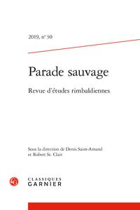 Parade sauvage, 2019, n° 30