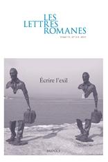 Les Lettres romanes, t. 73, n° 3-4, 2019 :
