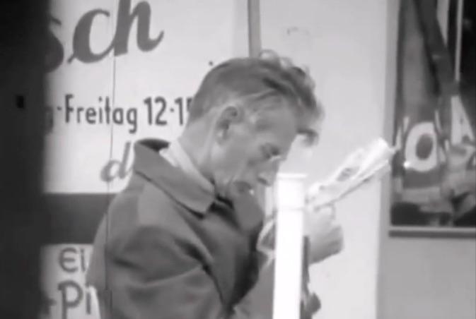 Beckett à Berlin en 1969 (ActuaLitte.com)