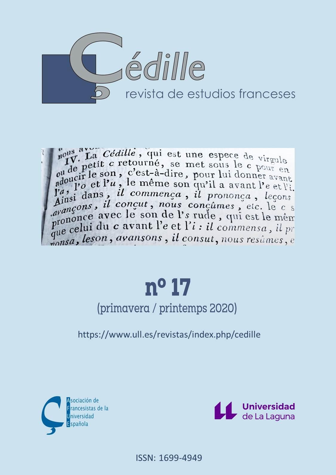 Çédille, revista de estudios franceses, n° 17