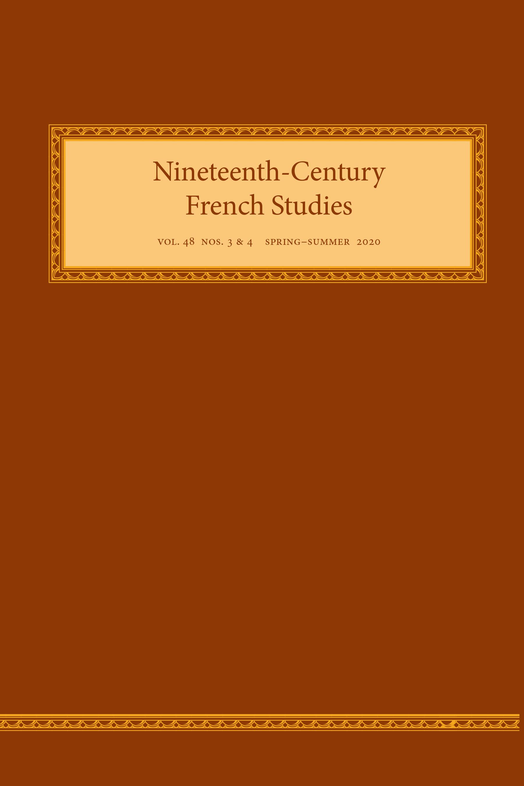 Nineteenth-Century French Studies, vol. 48, n° 3-4 (2020)