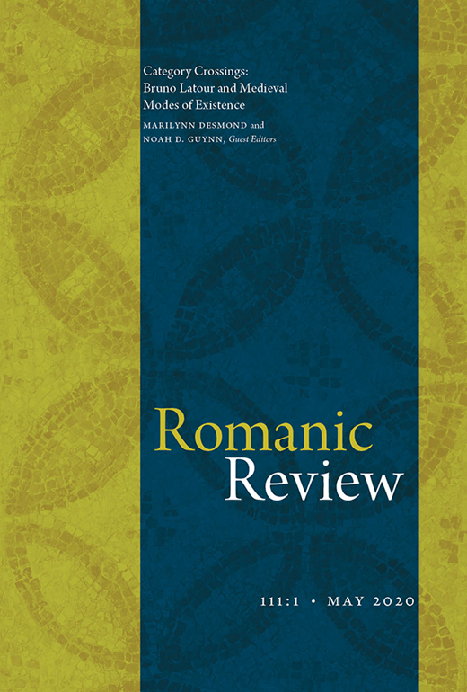 Romanic review, Vol. 111, Issue 11 :