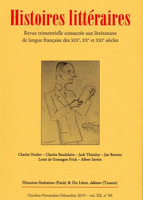 Vingt ans d'Histoires littéraires