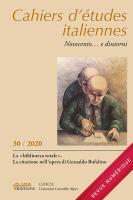 Cahiers d'études italiennes, n° 30, 2020 :