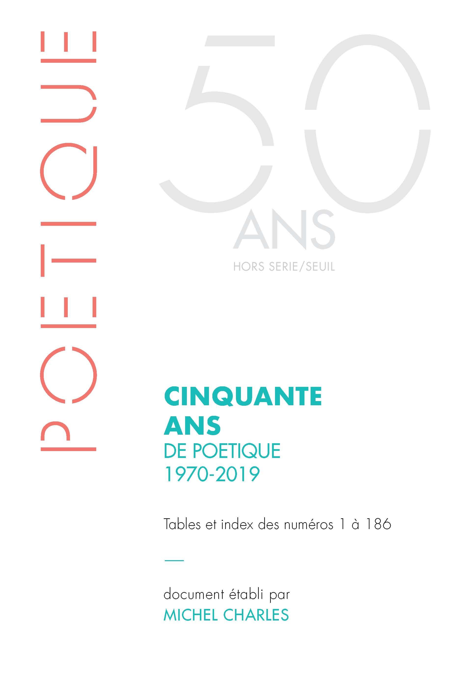 Poétique 2020/HS (n° spécial) :